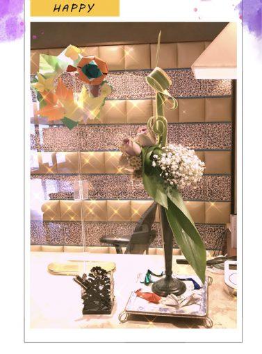 フロントのお花💐と折り紙